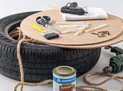 transforme vieux pneu objet déco incroyable