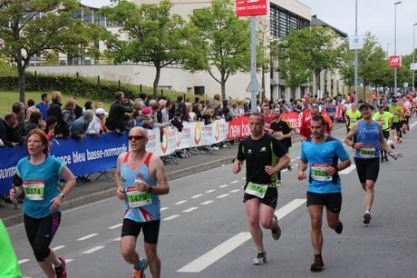 Reynald au finish sur le 21 km
