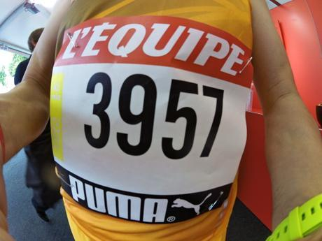Test debardeur Running Homme Kiprace  + Short Kiprun Orange Bleue