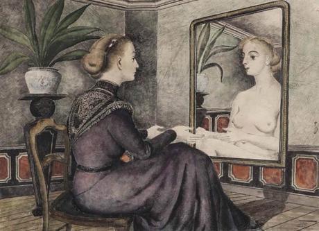Delvaux la Femme au miroir 1948 Musee Ixelles