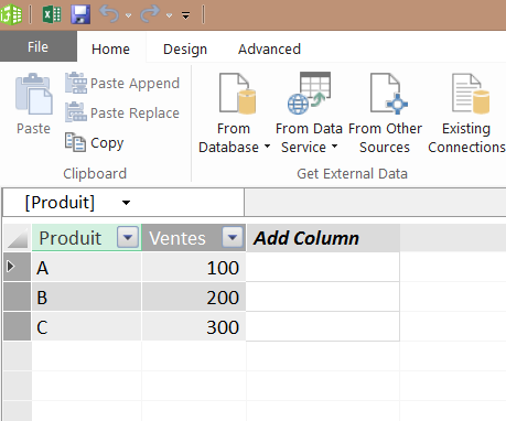 Power Pivot Table
