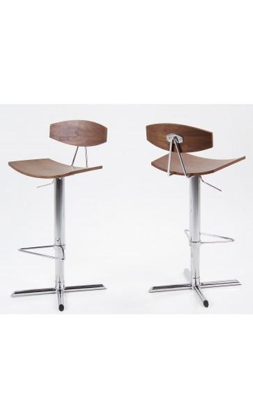 tabouret de bar design blaise noyer