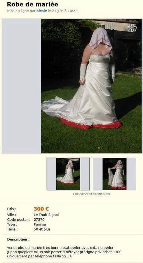 Robe De Mariée à Vendre Sur Le Bon Coin Paperblog