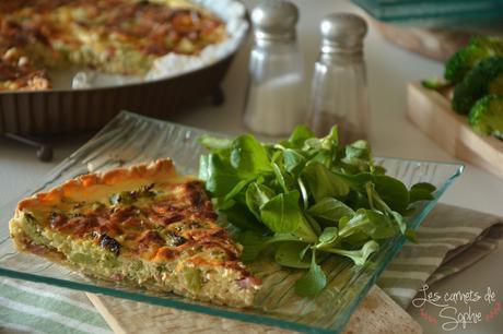 Tarte aux brocolis et aux lardons