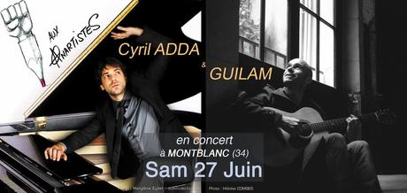 CYRIL ADDA et GUILAM aux ANARTISTES
