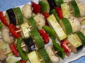 Brochettes lieu legumes