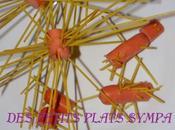 Saucisses spaghettis biscornus