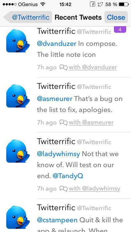 Twitterrific: un client Twitter pour iPhone qui a fière allure!