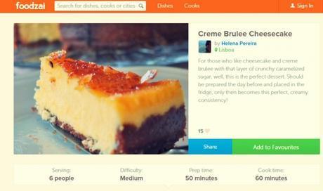 Site internet de la startup portugaise Foodzai