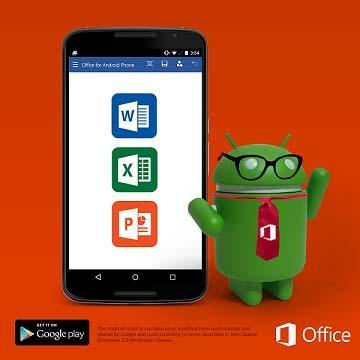 Word, Excel et PowerPoint disponibles en version finale pour Android