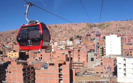 Téléphérique de La Paz, en Bolivie