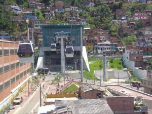 Le Metrocable, téléphérique de Medellin en Colombie