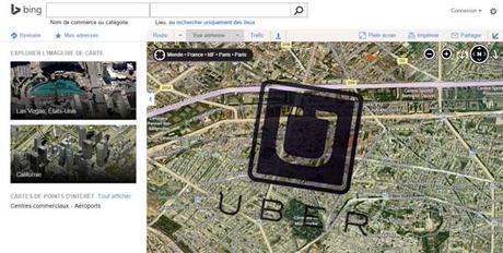 Uber rachète une partie des cartes Bing à Microsoft