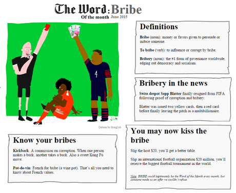 The Word of the Month (JUNE 2015) : BRIBE
