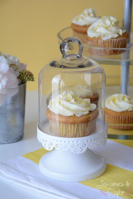 Cupcakes au Lemoncurd – Glaçage Mascarpone/vanille