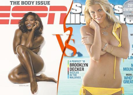 ESPN Magazine Body Issue vs Sports Illustrated Swimsuit Issue