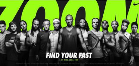 Find your fast: la dernière campagne Nike avec une multitude de stars