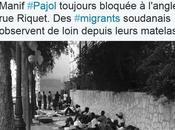 juin juillet 2015 errance migrants, Chapelle Pajol