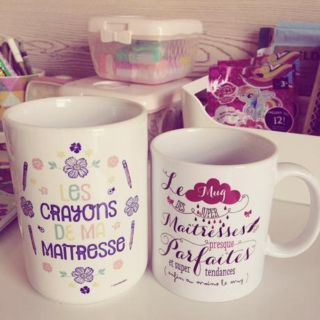 Mug et pot à crayons pour les maîtresses par Crea Bisontine