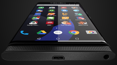 Un  BlackBerry tournant sur Android