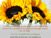 Labyrinthe tournesols Grand place Fanny Bouyagui, l'artiste complice Mons 2015