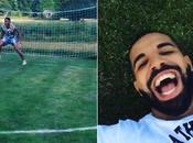 Drogba Drake s'amusent lors d'une séance pénos