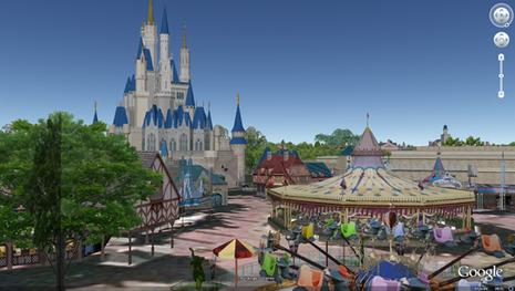 Walt Disney World en 3D sur Google Earth