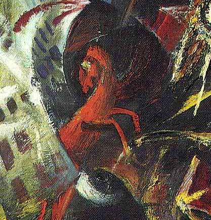 SPielberg-cheval de guerre- OTTO DIX-self-portrait-as-mars-détail01