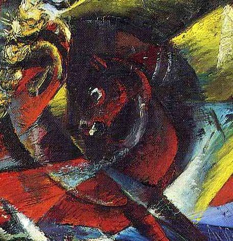 SPielberg-cheval de guerre- OTTO DIX-self-portrait-as-mars-détail02