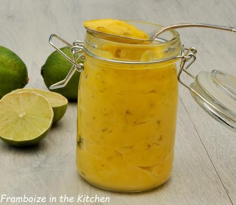 Lemon curd de citrons verts au Thermomix