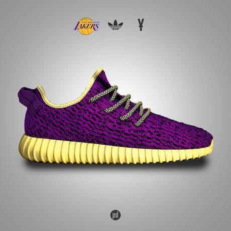 Des Yeezy Boost 350 aux couleurs des franchises NBA