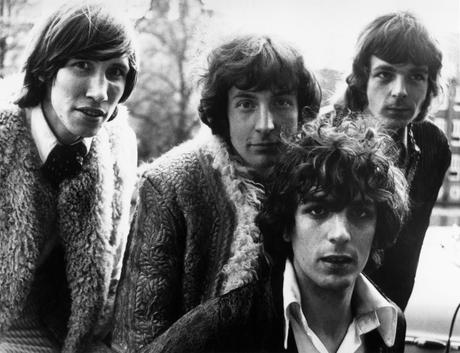 Members of Pink Floyd. From left to right, Roger Waters, Nick Mason, Syd Barrett and Rick Wright.