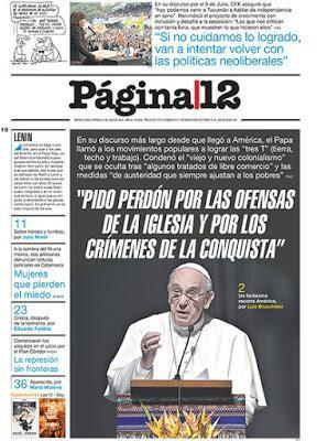 Página/12 aux anges après le discours de Santa Cruz de la Sierra [Actu]