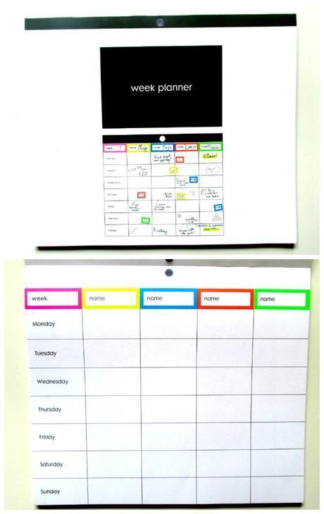 week planner hema