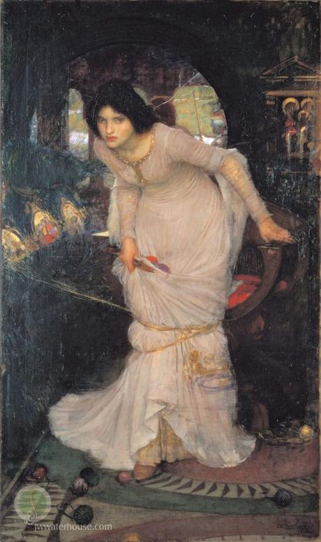John William Waterhouse The_Lady_of_Shallot_Looking_at_Lancelot 1884 City Art Gallery Leeds