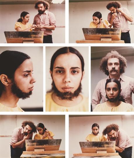 Facial Hair Transplant - 1972. Performance, New York, galerie Lelong