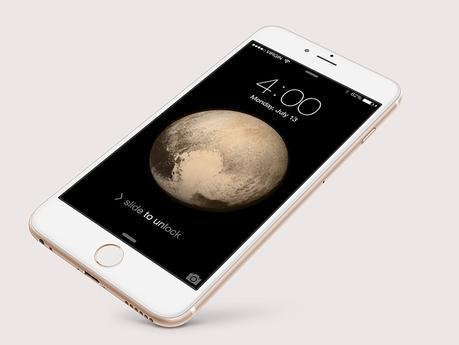 Wallpaper: Pluton sur votre iPhone