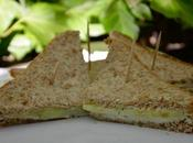 Club sandwiches concombre fromage fines herbes