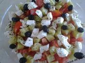 Salade concombre, tomate cerise, mozzarella
