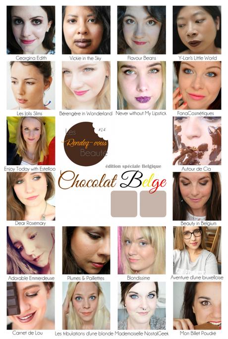 RDV Beauté_Edition spéciale Belgique_Chocolat_Juillet2015_Planche Finale des Looks_#1