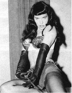 Betty Page in the sky