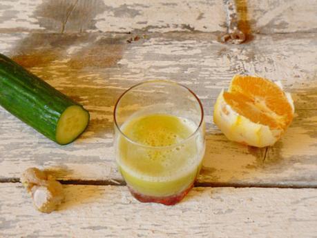 Jus concombre gingembre orange