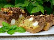 Cake deux tapenades, chèvre basilic