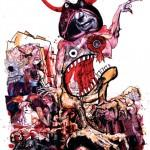 illustration de ralph steadman la ferme des animaux