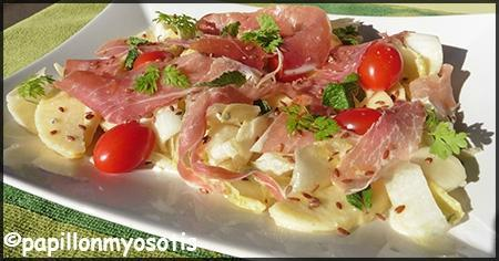 salade d'endives, jambon de parme et pomme_1