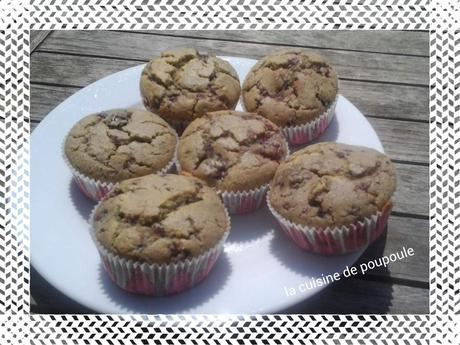 Muffins aux mûres sabns gluten au thermomix ou sans