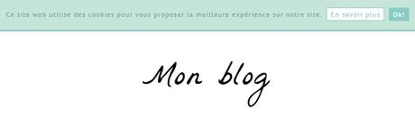 Comprendre et modifier la barre de cookies de Blogger