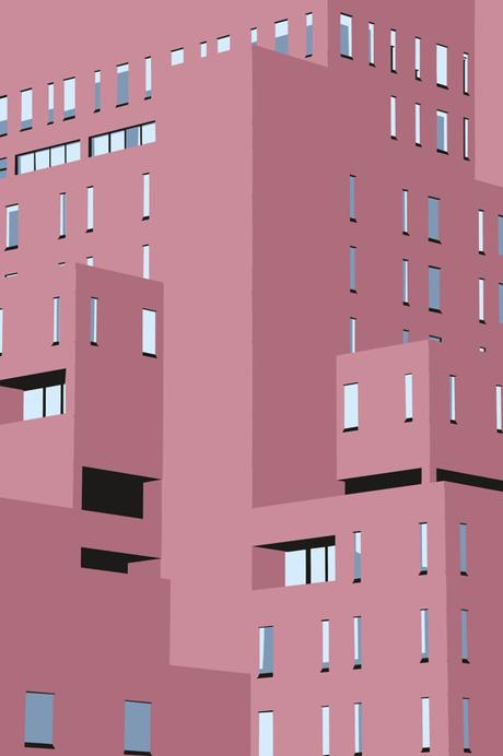 Minimalist vector architecture by Joe Rampley