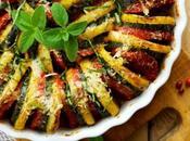 Tian provençal plat d'été avec légumes saison, pleins soleil vitamines