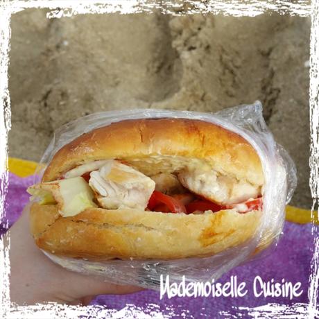 Sandwich fait maison au poulet et variante au thon